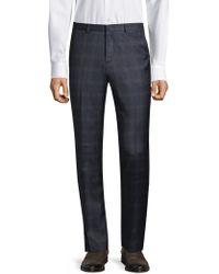 HUGO | Windowpane Plaid Wool Trousers | Lyst