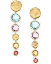 Marco Bicego | Jaipur Semi-precious Multi-stone Graduated Drop Earrings | Lyst