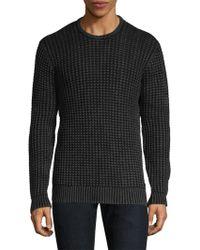 John Varvatos - Waffle-knit Crewneck Sweater - Lyst