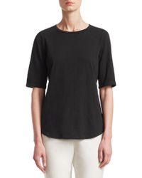Eileen Fisher - Half-sleeve Cotton Top - Lyst