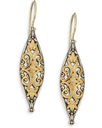 Konstantino - Hebe 18k Yellow Gold & Sterling Silver Drop Earrings - Lyst