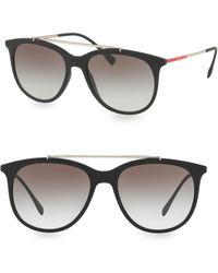 Prada - Linea Rossa 54mm Gradient Matte Black Sunglasses - Lyst