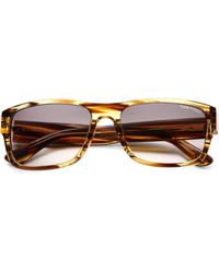 224d09568ff Lyst - Tom Ford Mason 60mm Square Sunglasses in Brown for Men