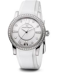 David Yurman - Classic 34mm Rubber Swiss Quartz Watch With Diamonds - Lyst