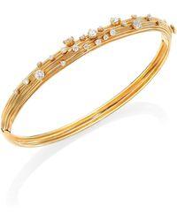 Hueb - Plisse 18k Yellow Gold & Diamond Bangle Bracelet - Lyst