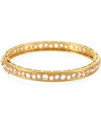 Bavna | 18k Gold & Diamond Bangle | Lyst