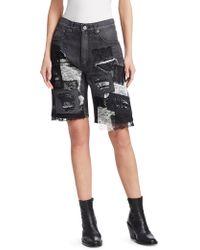 Junya Watanabe - Lace Trim Denim Bermuda Shorts - Lyst