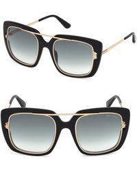d87432741fea Lyst - Tom Ford Marissa 52mm Sunglasses - Dark Havana  Gradient ...