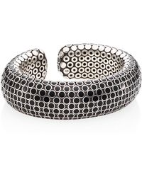 John Hardy - Dot Medium Sterling Silver Flex Cuff/black - Lyst
