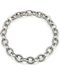 "David Yurman - Oval Extra-large Link Necklace/17"" - Lyst"