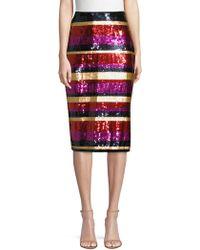 Trina Turk - Cava Sequin Striped Pencil Skirt - Lyst