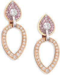 Plevé - Opus Diamond & 18k Gold Pear Stud & Ear Jacket Set - Lyst