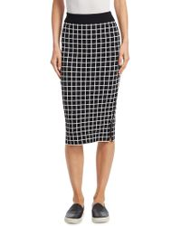 Akris Punto | Grid Pattern Midi Pencil Skirt | Lyst