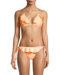 Shoshanna - Ruffled Triangle Bikini Top - Lyst