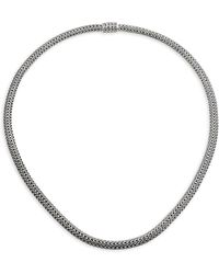 John Hardy - Classic Chain Sterling Silver Extra-small Necklace/18 - Lyst