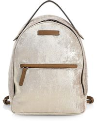 Brunello Cucinelli - Distressed Leather Backpack - Lyst