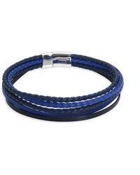 Tateossian - Cobra & Multistrand Sterling Silver Bracelet - Lyst
