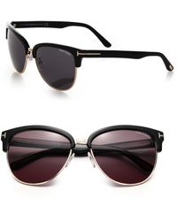 688ec6378cdde Tom Ford - Fany 59mm Square Sunglasses - Lyst