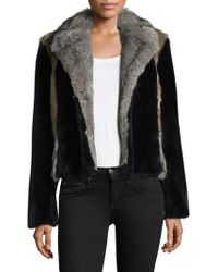 Rebecca Taylor - Patched Faux Fur Jacket - Lyst