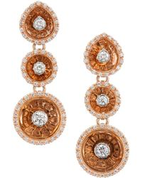 Plevé - Aura 18k Rose Gold & Diamond Drop Earrings - Lyst