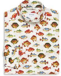 Eton of Sweden   Slim-fit Fish-print Dress Shirt   Lyst
