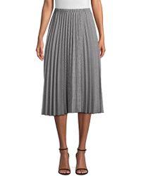 Donna Karan - Pleated A-line Skirt - Lyst