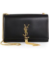 Saint Laurent - Medium Kate Monogram Leather Tassel Chain Shoulder Bag - Lyst