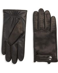 Mackage - Snap Leather Gloves - Lyst