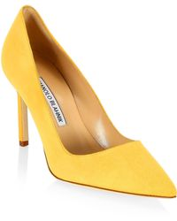 Manolo Blahnik - Bb 90 Suede Point Toe Pumps - Lyst