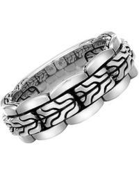 John Hardy - Sterling Silver Mens Classic Chain Ring - Lyst