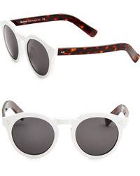 Illesteva - Leonard Ii White 50mm Oversized Round Sunglasses - Lyst