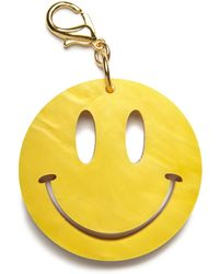 Edie Parker - Happy Face Bag Charm Yellow/gold - Lyst
