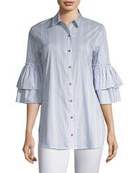 Ella Moss - Casrissa Stripe Bell-sleeve Shirt - Lyst
