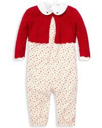 Ralph Lauren - Baby Girl's 3-piece Bodysuit, Overall & Sweater Set - Lyst