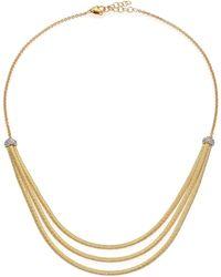 Marco Bicego - Cairo Diamond & 18k Yellow Gold Three-row Bib Necklace - Lyst