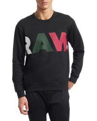 G-Star RAW - Noct Stalt Deconstructed Graphic Sweater - Lyst