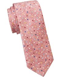 Saks Fifth Avenue - Collection Polka Dot Print Silk Tie - Lyst