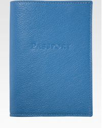 Graphic Image - Leather Passport Cover - Lyst