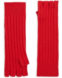 Saks Fifth Avenue - Cashmere Fingerless Gloves - Lyst