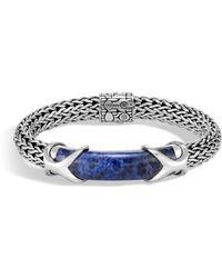 John Hardy - Classic Lapis Lazuli & Silver Chain Bracelet - Lyst