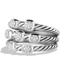 David Yurman - Confetti Ring With Diamonds - Lyst