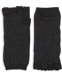 John Varvatos - Merino Wool Knit Fingerless Gloves - Lyst
