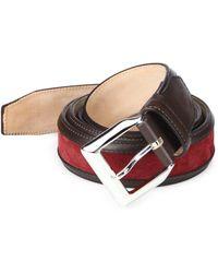 Sutor Mantellassi - Truman Veloucal Leather & Suede Belt - Lyst