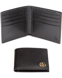 c219a7d9d3be Gucci - Men's Leather Bi-fold Wallet - Cocoa - Lyst