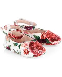 Dolce & Gabbana - Kid's Floral Ballet Flat - Lyst