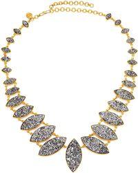 Shana Gulati Jodhpur Sliced Raw Diamond & 18k Yellow Gold Vermeil Necklace - Metallic