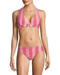 Shoshanna - Striped Bikini Bottom - Lyst