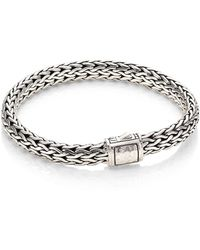 John Hardy | Classic Chain Medium Hammered Sterling Silver Chain Bracelet | Lyst