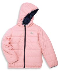 Lacoste - Little Girl's & Girl's Reversible Puffer Jacket - Lyst