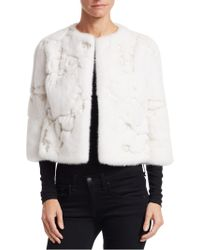 Monique Lhuillier - Mink Embroidered Jacket - Lyst